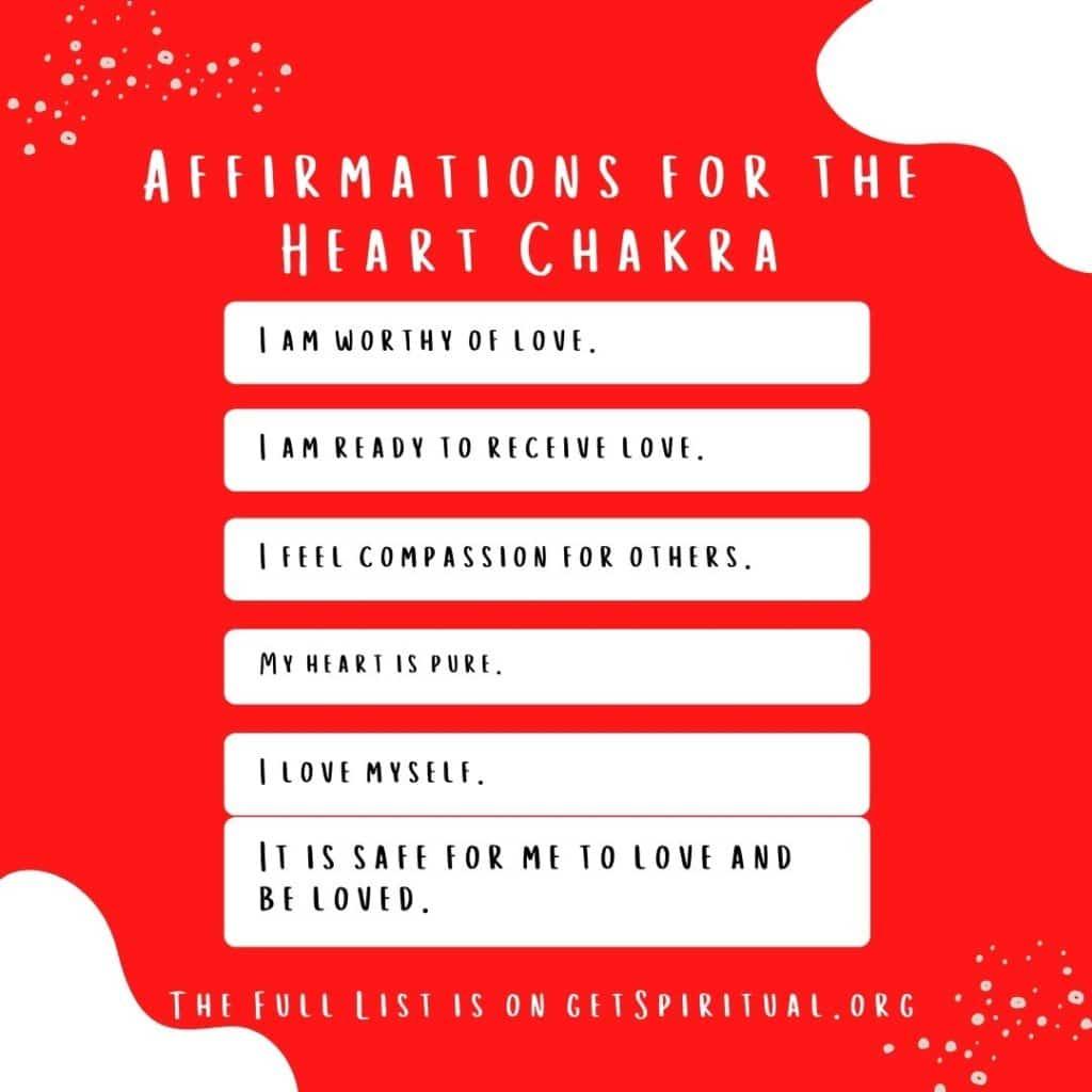 Affirmations for Heart Chakra
