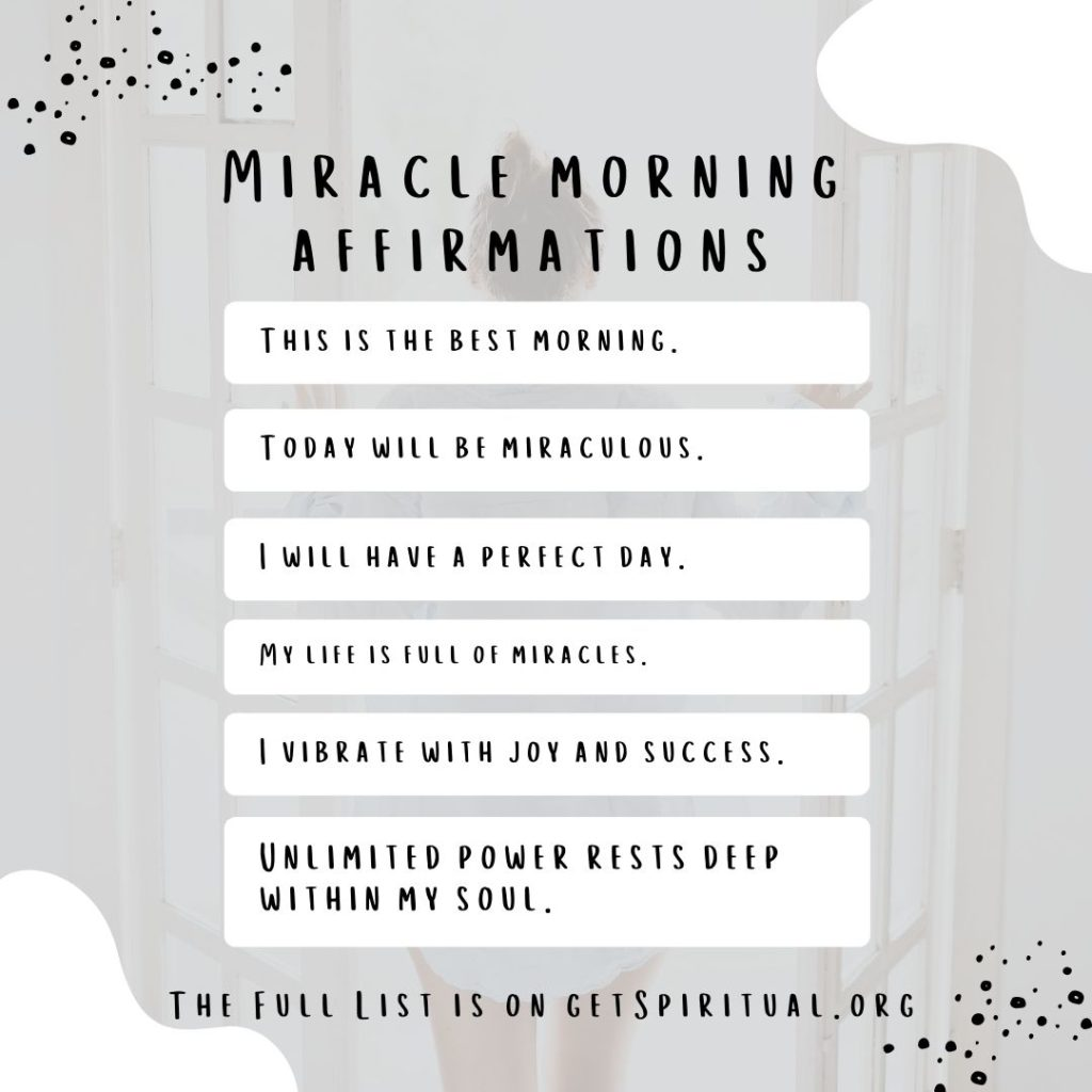 Affirmations for Miracle Morning