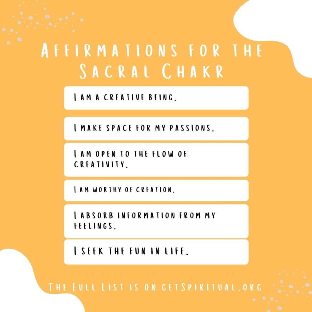 Affirmations for Sacral Chakra