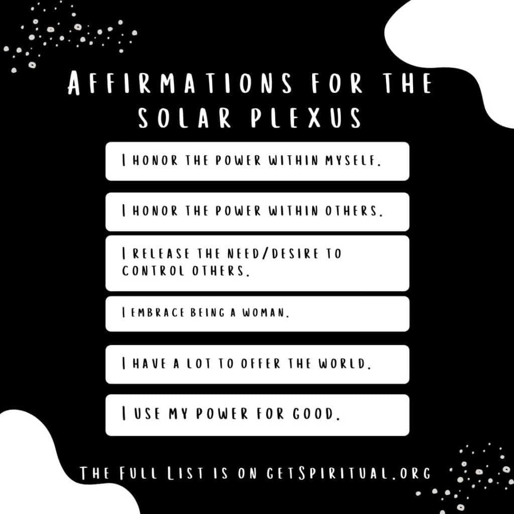 Affirmations for Solar Plexus