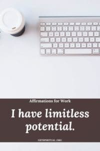 Affirmations for Work Card 1