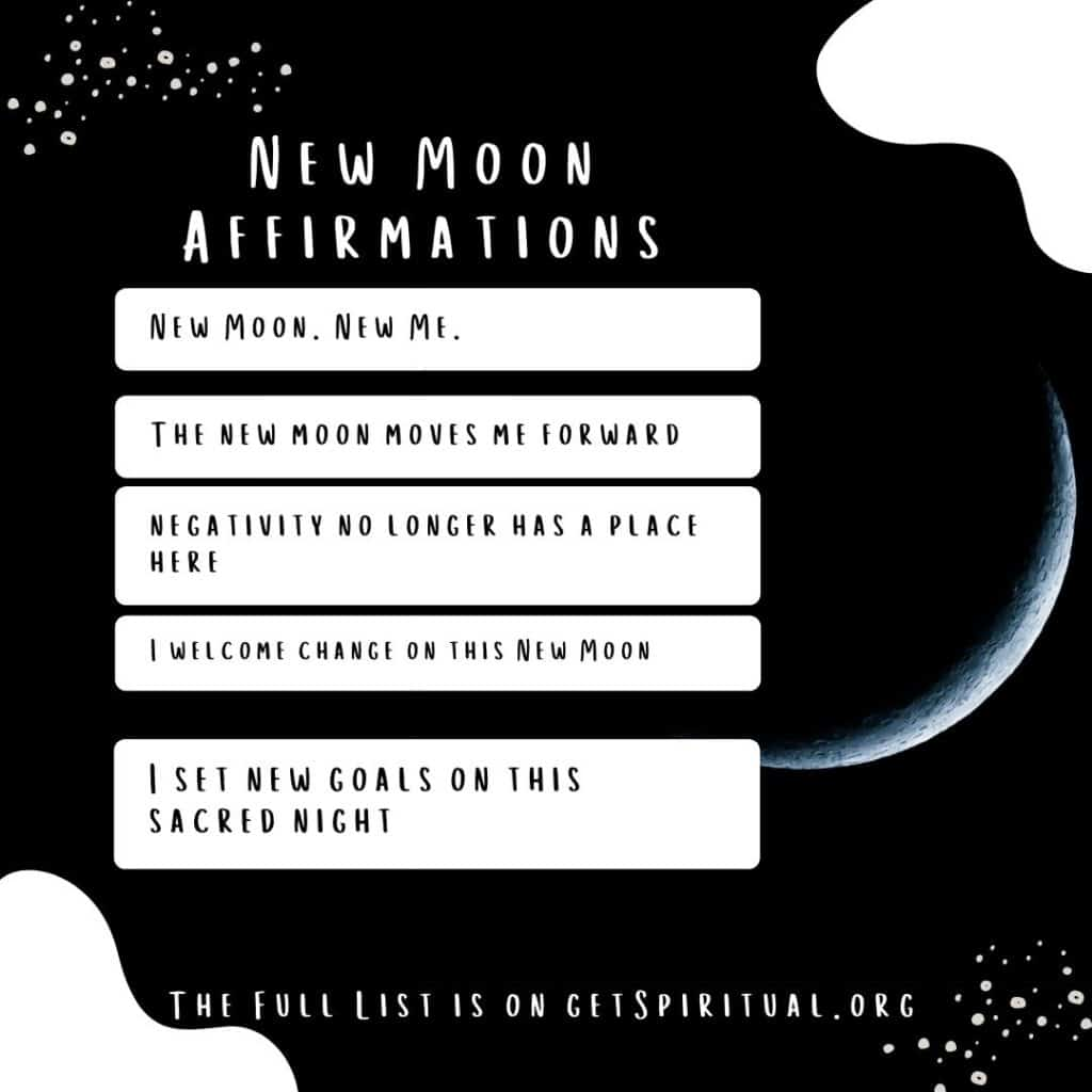 Affirmations for the New Moon