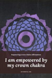 Crown Chakra Affirmation Card