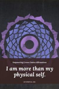 Crown Chakra Affirmation Card 3