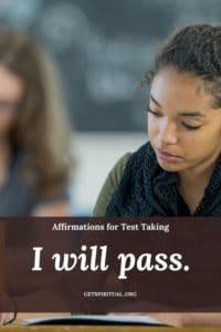 Exam Taking Affirmation Card 1