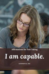 Exam Taking Affirmation Card 3