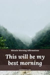 Miracle Morning Affirmation 1