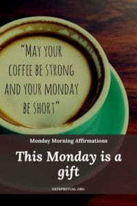 Monday Morning Affirmation Card 1