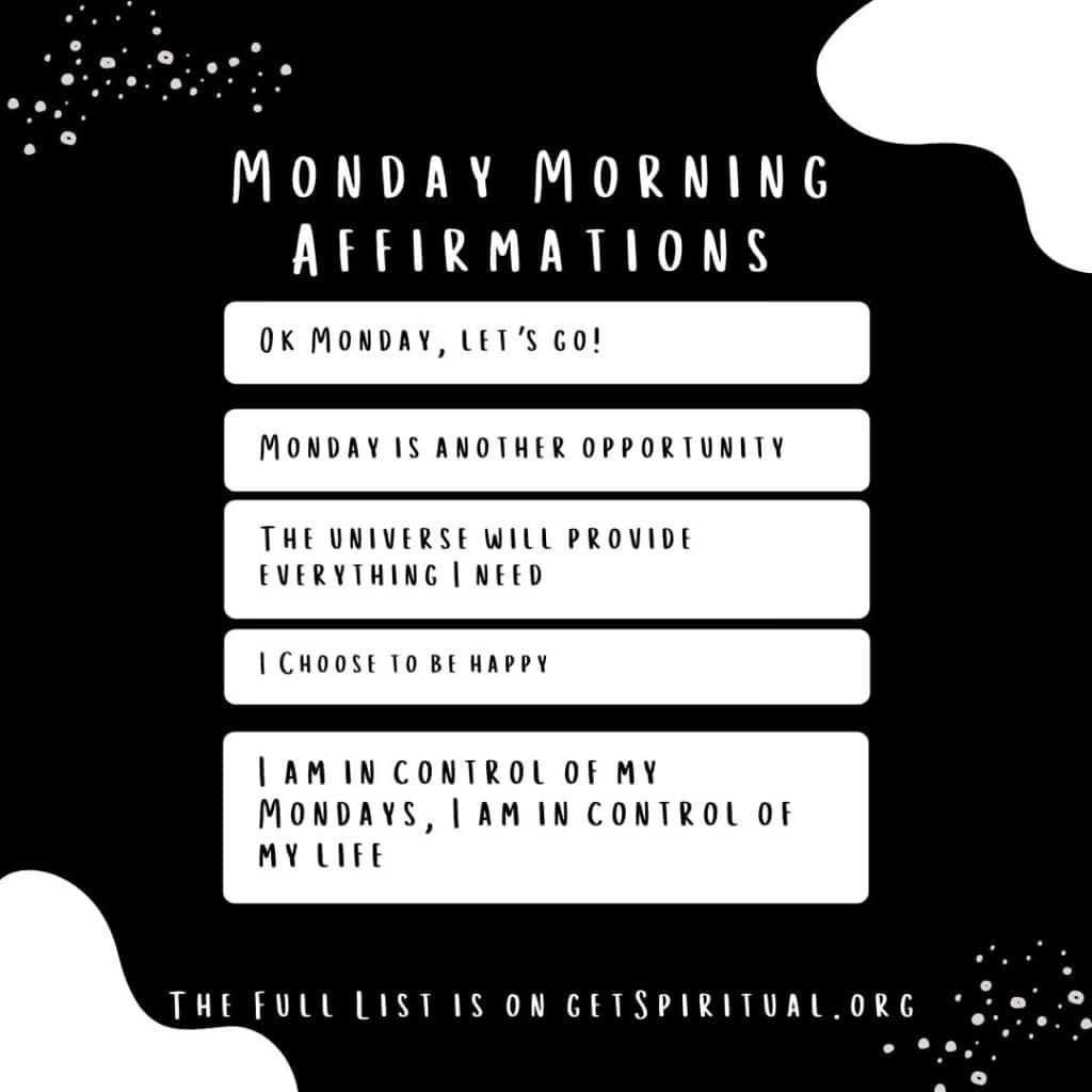 Monday Morning Affirmations