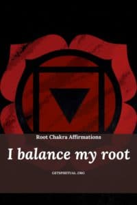Root Chakra Affirmation Card 1