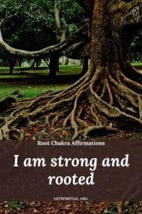 Root Chakra Affirmation Card 3