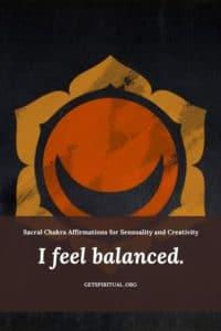 Sacral Chakra Affirmation Card 1