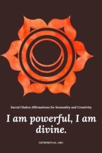 Sacral Chakra Affirmation Card 2