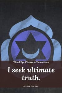 Third Eye Chakra Affirmation Card 1