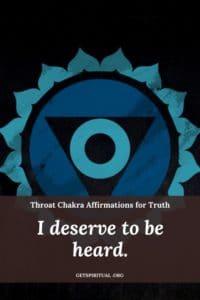 Throat Chakra Affirmation Card 1