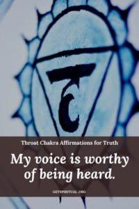 Throat Chakra Affirmation Card 2