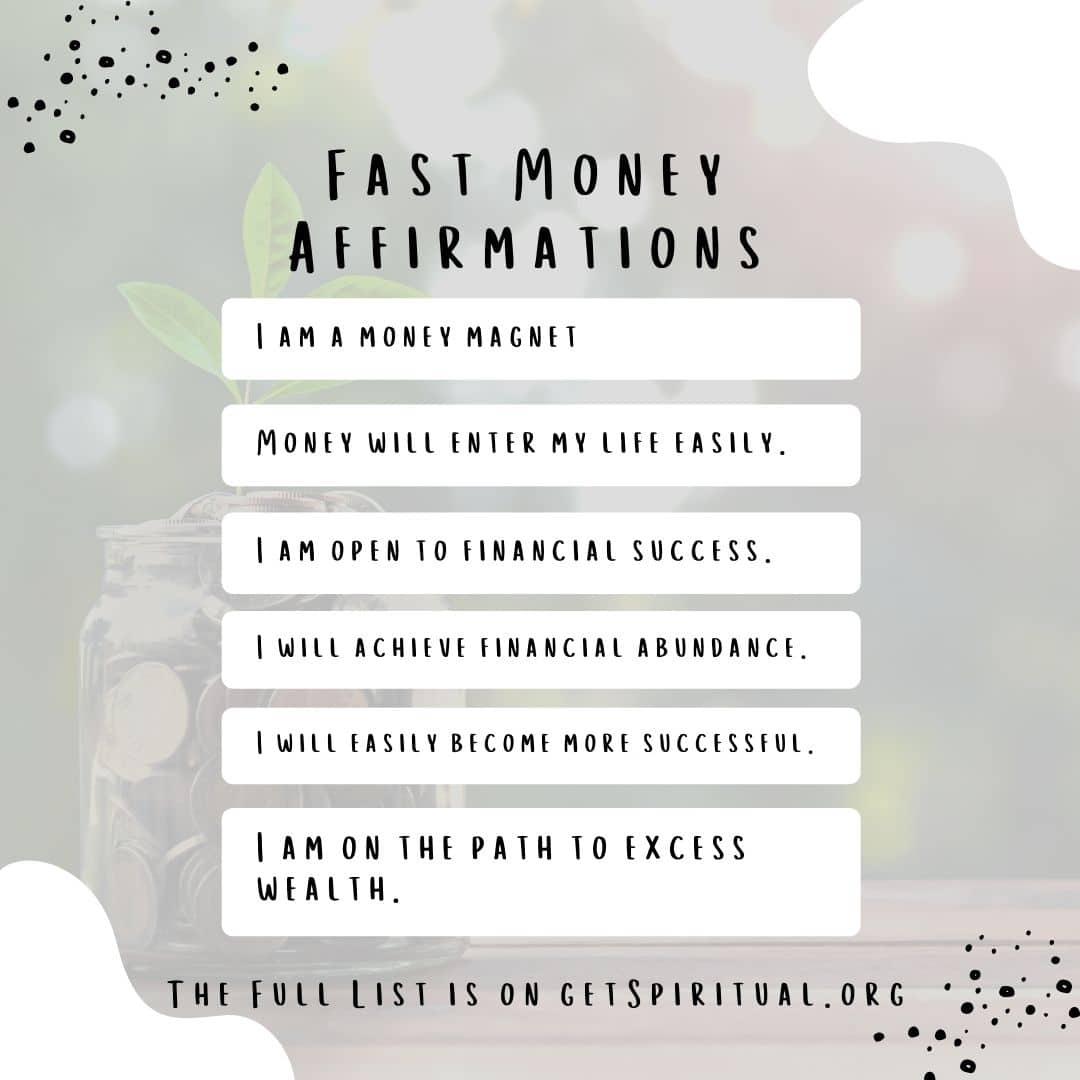 Fast Money Affirmations