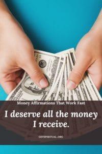 Money Affirmation Card 2